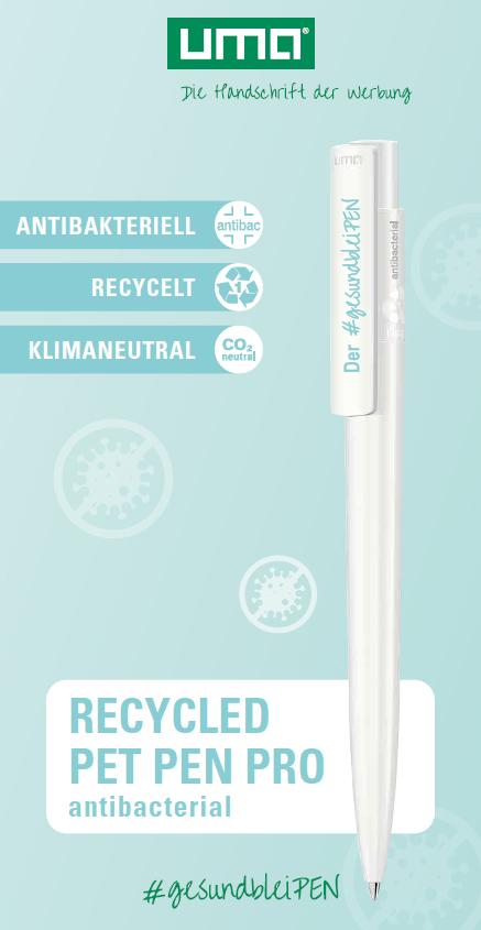 Recycled PET Pen Pro – antibakterieller Kugelschreiber Grafik