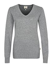 HAKRO Damen-V-Pullover Premium-Cotton