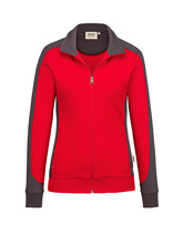 HAKRO Damen-Sweatjacke Contrast Performance