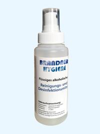 Flüssiges alkoholisches Reinigungs- und Desinfektionsmittel, 100ml