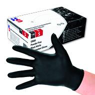 Nitril-Einweghandschuhe Black PKG.