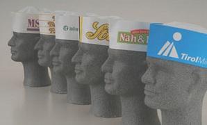 Papierschiffchen mit Logodruck