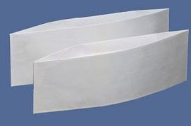 Papierschiffchen uni weiß PACKUNG