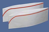 Papierschiffchen weiß mit farbiger Zierkante