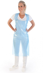 PE-Schürzen im PE-Spender – blau, 75x140