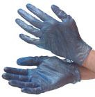 Vinyl-blau Einweghandschuhe